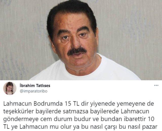 İbrahim Tatlıses'ten eleştirilere yanıt: 10 liraya lahmacun mu olur? - Magazin haberleri