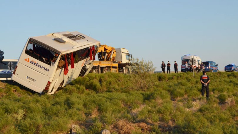 Son dakika: Aksaray'da yolcu otobüsü devrildi: 22 yaralı