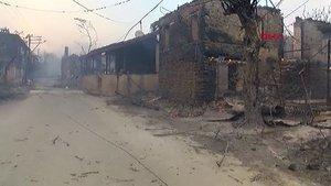 Manavgat'ta bir mahalle küle döndü