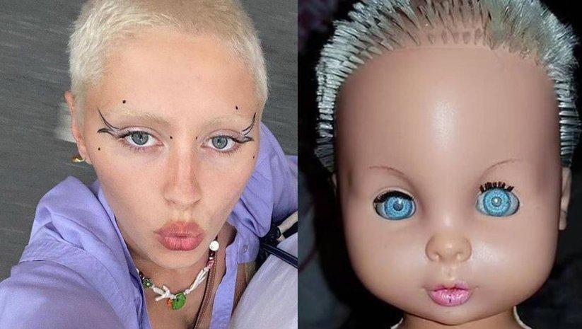 Kendini oyuncak bebeğe benzetti
