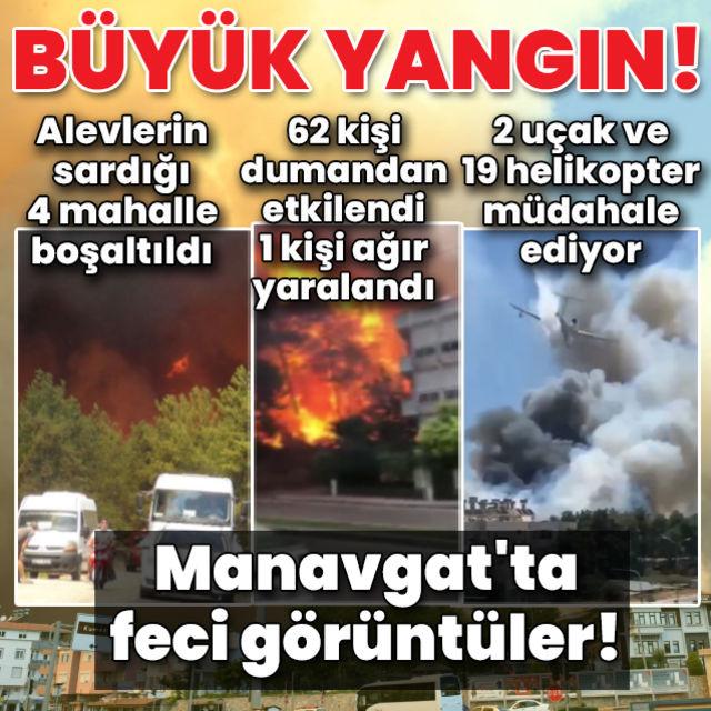 Manavgatta ormanlık alanda yangın!