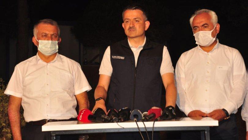 Bakan Pakdemirli, Manavgat'taki orman yangınına ilişkin açıklamada bulundu
