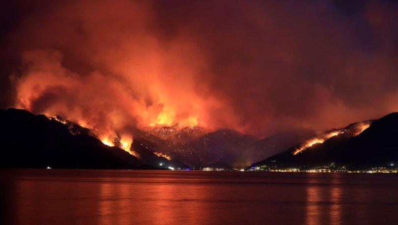 SON DAKİKA: Marmaris İçmeler yangın son durum! İçmeler boşaltılıyor