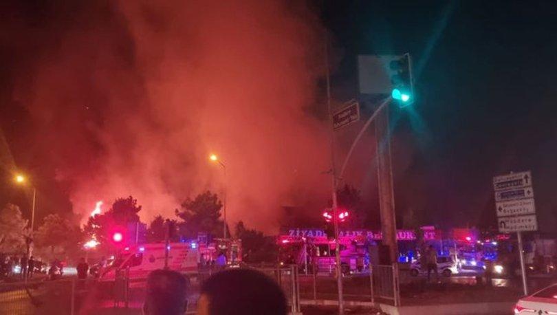 Bahçeşehir'de iş yerinde çıkan yangın fidanlık alana sıçradı