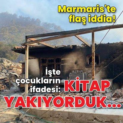 Marmaris'te flaş iddia: Kitap yakıyorduk...