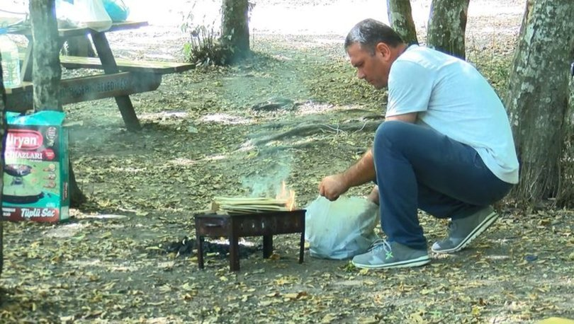 Yasağa rağmen Belgrad Ormanı'nda mangal yaktılar