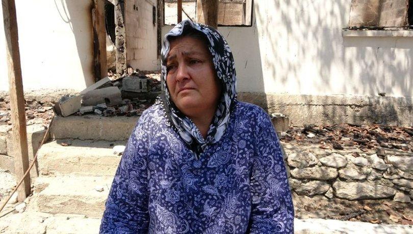 Orman yangında evi yanan kadın: Canımızı zor kurtardık