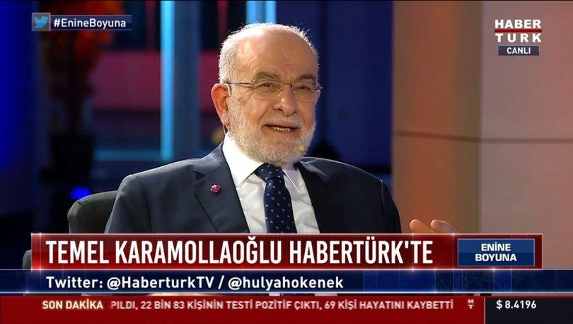 Saadet Partisi Genel Başkanı Temel Karamollaoğlu Habertürk TV'de soruları yanıtladı.