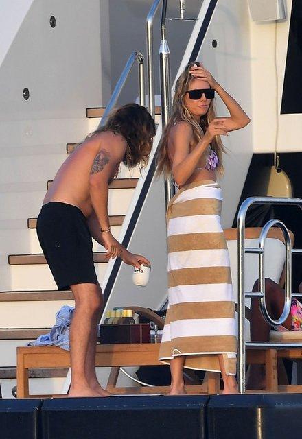 Heidi Klum ile Tom Kaulitz güvertede aşka geldi! - Magazin haberleri
