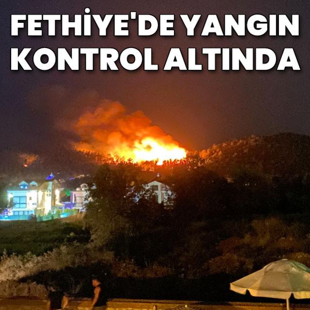 Muğlanın Fethiye ilçesinde orman yangını başladı