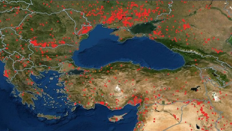 NASA FİRE MAP! NASA yangın haritası: Türkiye orman yangınları canlı haritası