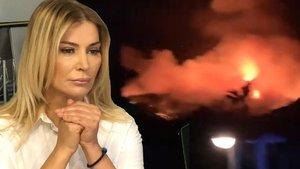 Yangını görüntüledi: Oteller boşaltılıyor!