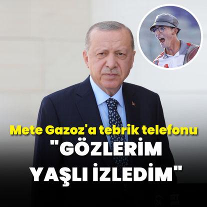 Cumhurbaşkanı Erdoğan'dan Mete'ye tebrik
