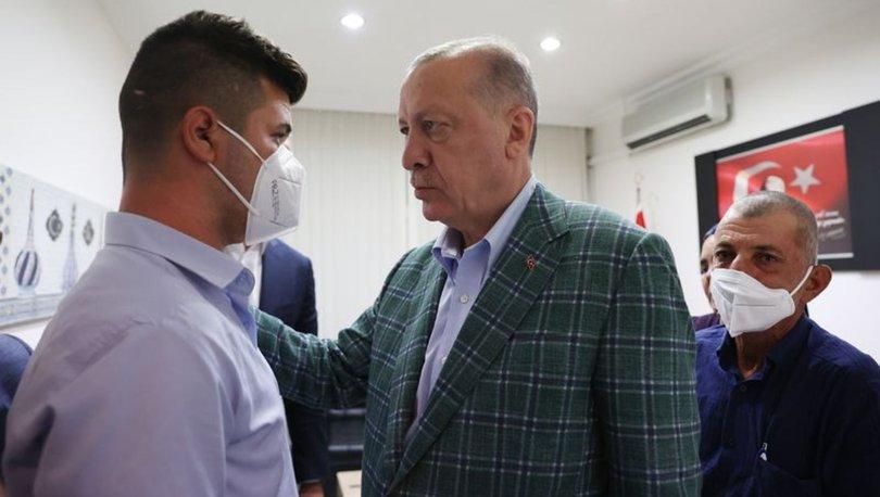Cumhurbaşkanı Recep Tayyip Erdoğan Şahin Akdemir'in ailesine taziye ziyaretinde bulundu