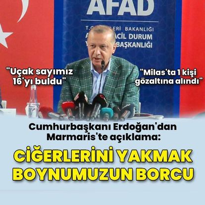 Cumhurbaşkanı Erdoğan: Ciğerlerini yakmak boynumuzun borcu