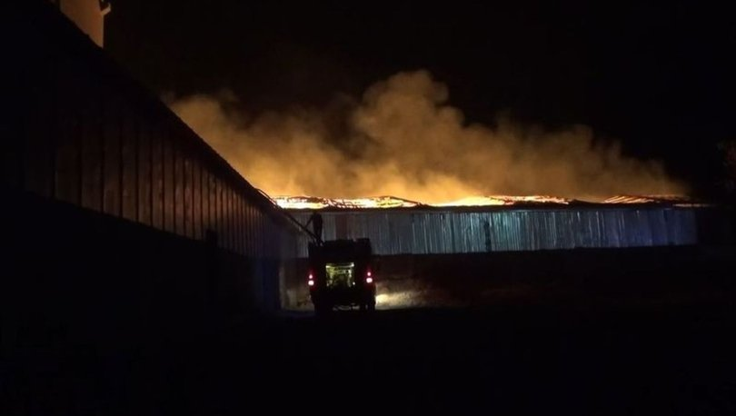 Kahramanmaraş'ta geri dönüşüm tesisinde çıkan yangını söndürme çalışmaları sürüyor