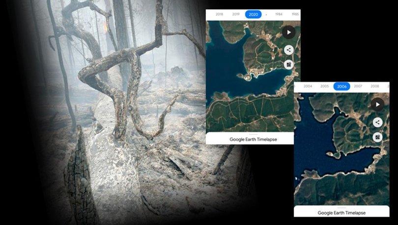 O bölgeler orman yangınlarından önce nasıldı? Haberler