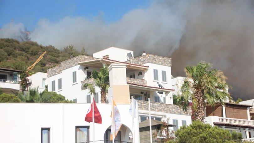Bodrum yangın son dakika: Otel ve evler tahliye edildi
