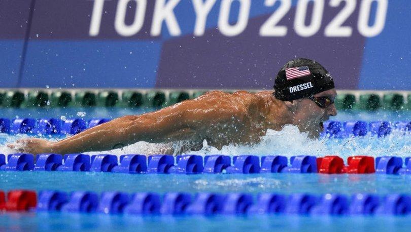 Caeleb Dressel, olimpiyat rekoru kırarak altın madalyaya uzandı