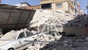 Şahinbey'de 5 katlı bina çöktü