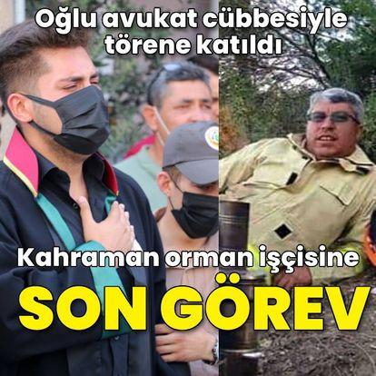 Orman işçisi Cinbaş'a son görev