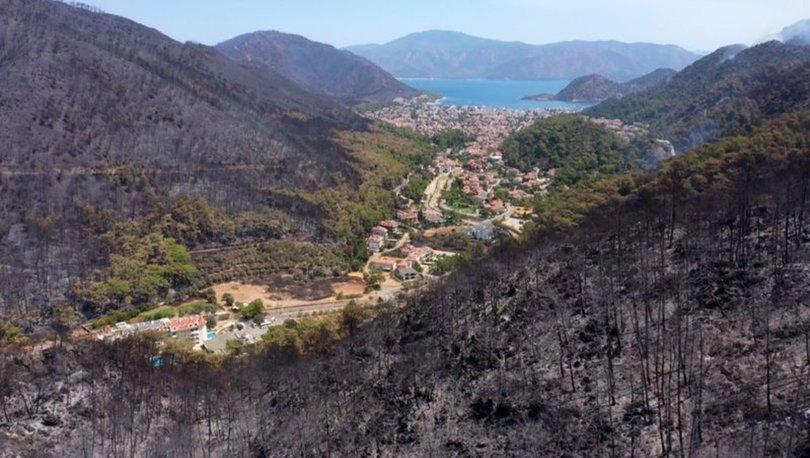 NEYDİ, NE OLDU? Son dakika: Marmaris'te yanan ormanlar böyle görüntülendi