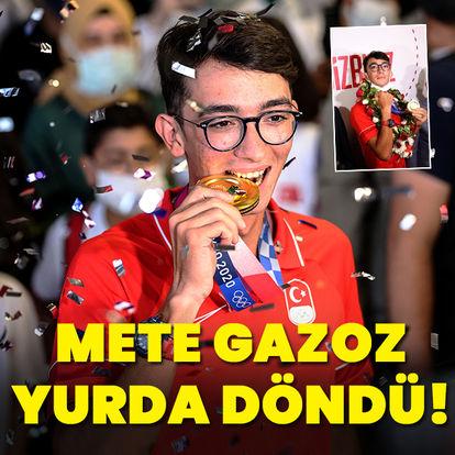 Mete Gazoz yurda döndü