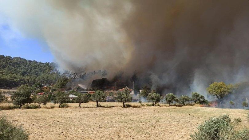 Marmaris Son Dakika yangın: Marmaris Hisarönü'nde feci anlar!