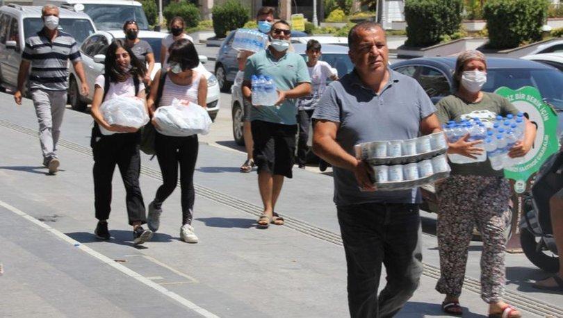 Marmaris ve çevresinde devam eden yangınlara yardım, bağış yapacak vatandaşlar için bir liste yayınlandı