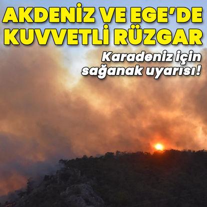 Karadeniz için sağanak, Akdeniz ve Ege için kuvvetli rüzgar uyarısı
