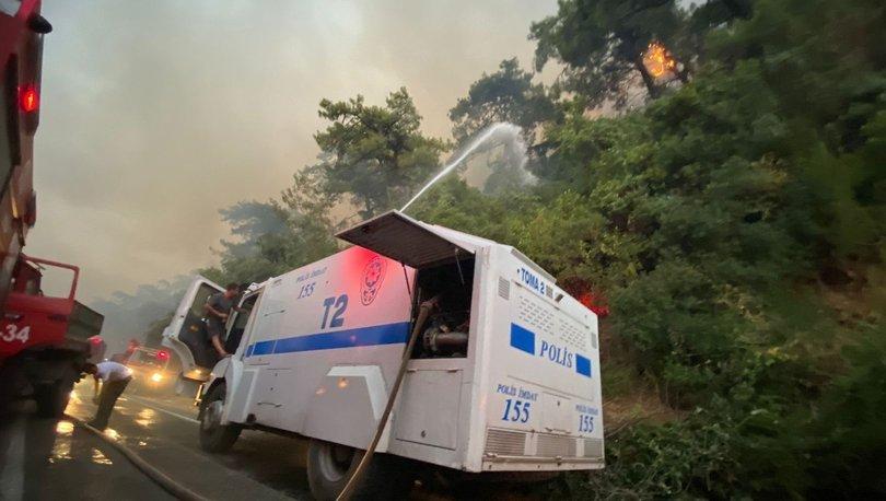Son dakika: Orman yangınlarına TOMA ile müdahale