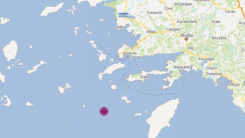 DEPREM... Son dakika: Yangın bölgesi Datça'da 5 büyüklüğünde deprem