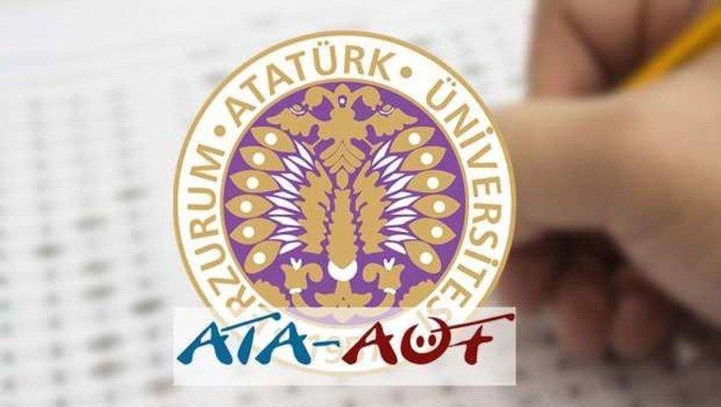 ATA AÖF yaz okulu kayıt tarihleri: ATA AÖF yaz okulu açılan dersler 2021 ve ATA AÖF yaz okulu ücretleri
