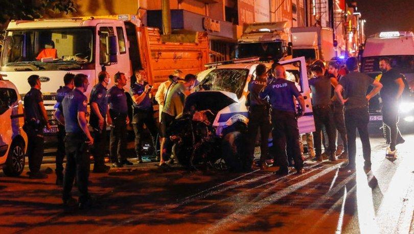 İzmir'de ihbara giden polis aracı otomobille çarpıştı: 1 şehit, 4 yaralı