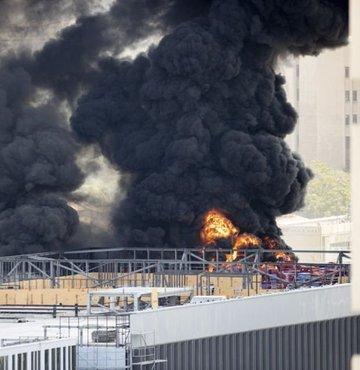 Ankara'da hastane inşaatında yangın!