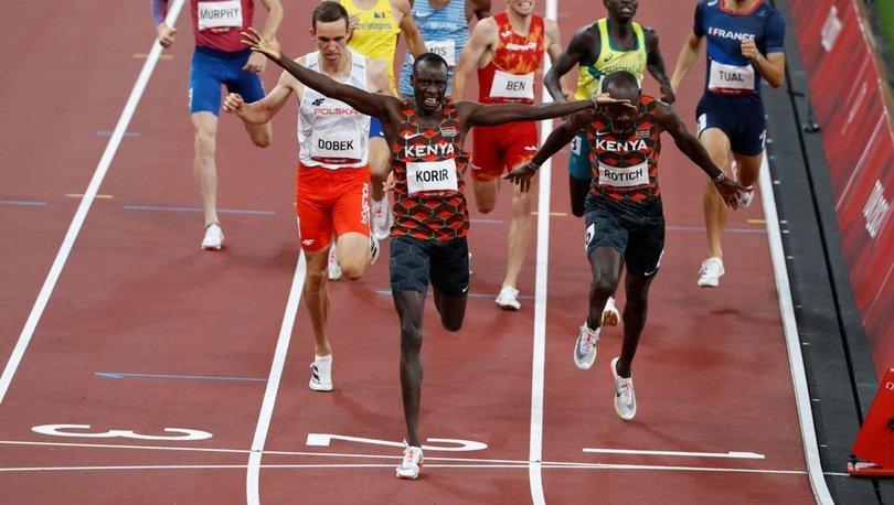 Erkekler 800 metrede zafer Korir'in