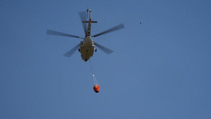 Orman yangınları için kiralanan helikopter Eskişehir'de konuşlandırıldı