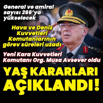 YAŞ kararları! Kara Kuvvetleri Komutanı belli oldu!