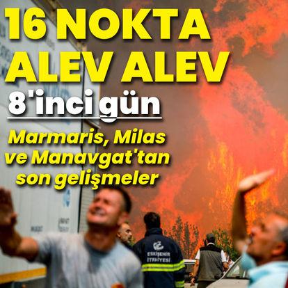 Türkiye yanıyor! Yangınlarda 8'inci gün
