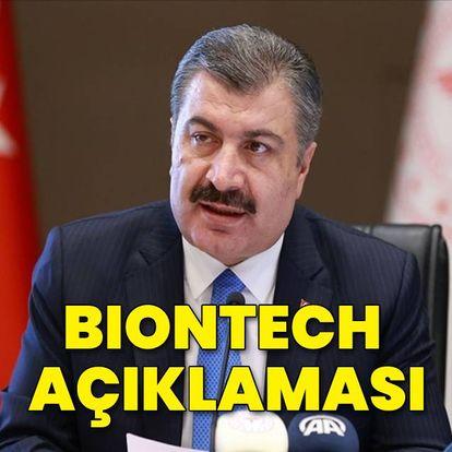 Sağlık Bakanı Koca'dan BioNTech açıklaması