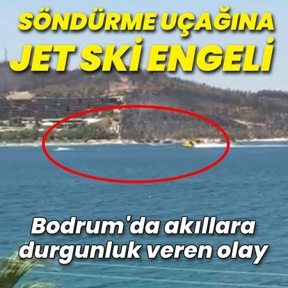 Söndürme uçağına Jet Ski engeli