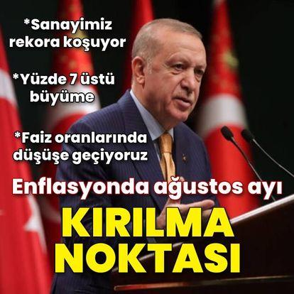 Cumhurbaşkanı Erdoğan: Enflasyonda ağustos ayı kırılma noktası