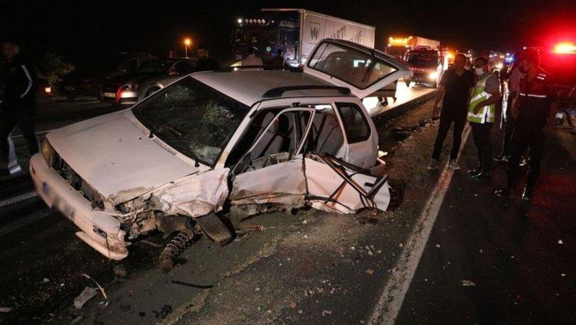Yozgat'ta 4 araçlık zincirleme kazada 7 kişi yaralandı