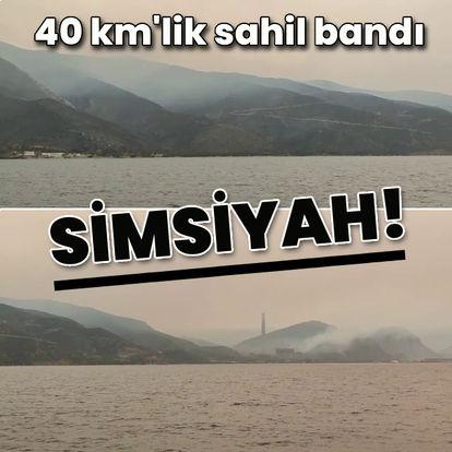 40 km'lik sahil bandı simsiyah!