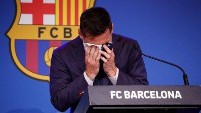 Messi'nin ayrılık gözyaşları!