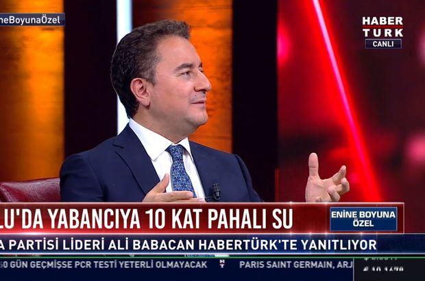 Ali Babacan Habertürk TV'de soruları yanıtladı