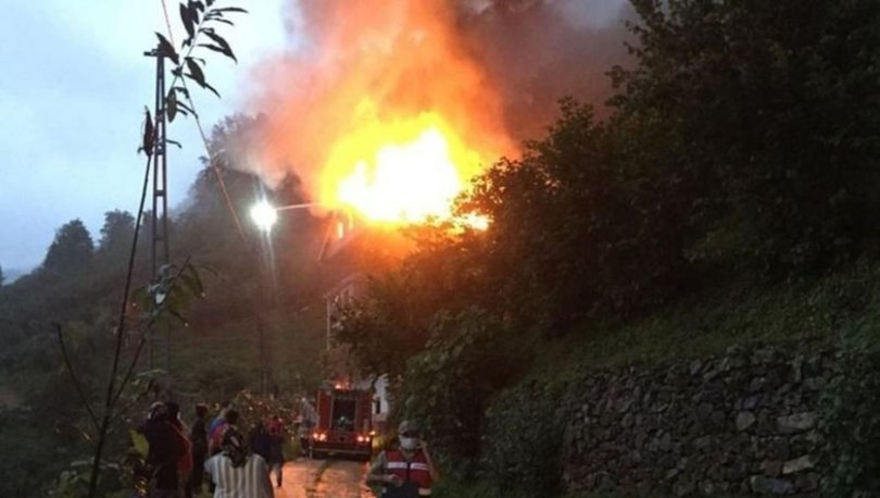 Trabzon'da korkutan yangın! - Son dakika haberleri