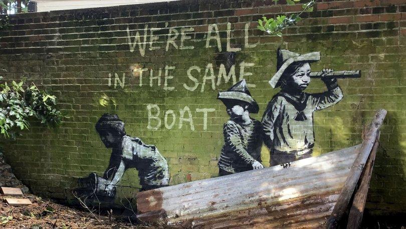 Doğu İngiltere'de heyecana neden olan duvar resimleri Banksy imzası taşıyor