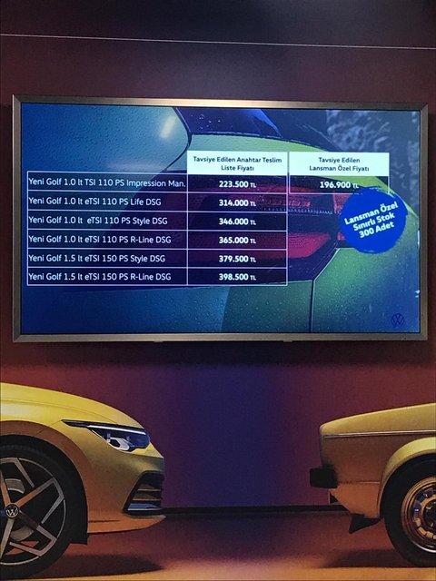 Volkswagen Golf 8 fiyatı ne kadar? İşte Volkswagen Golf 2021 fiyat listesi