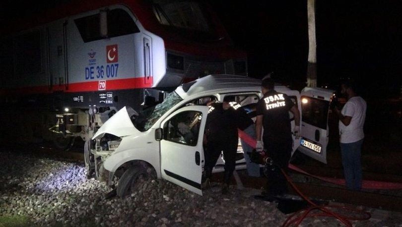 Uşak'ta hemzemin geçitte feci kaza: 2 ölü
